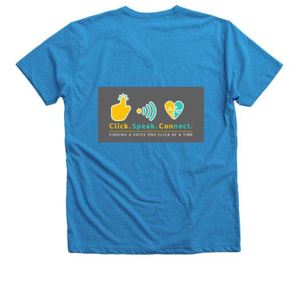 blue I have a voice vneck tshirt-back