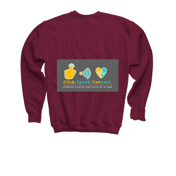 youth I have a voice sweater - back