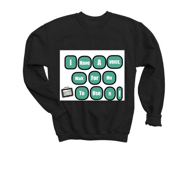 youth I have a voice sweater - black color
