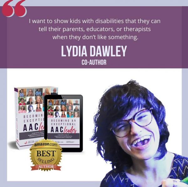 Lydia Dawley co-author Becoming an Exceptional AAC Leader book promo