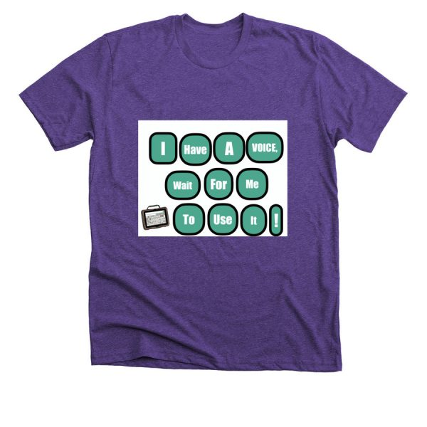 purple I have a voice tshirt-front